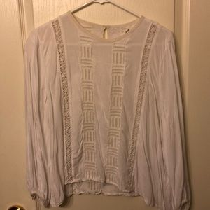 Long sleeved white Wilfred top